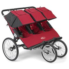 Baby Jogger Q-Series Triple Stroller in Red from PoshTots