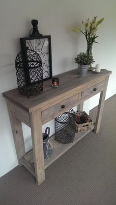 Long Hall Tables Furniture handmade-hall-table-rustic-hamptons-style-console-sideboard-by