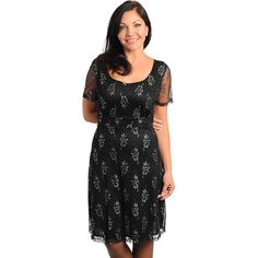 @Overstock - Dressed up or down, this cool floral print dress from Stanzino has a flattering empire waist and sheer sleeves. A sexy low back completes this gorgeous look.http://www.overstock.com/Clothing-Shoes/Stanzino-Womens-Plus-Size-Black-Floral-Print-Low-back-Sheath-Dress/7753845/product.html?CID=214117 $34.09