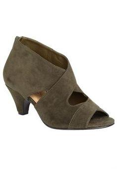 Wide Width Amaris open toe booties by Comfortview®   Booties from Jessica London