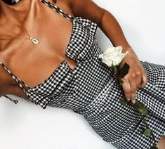 Gingham Bustier Chic Dress