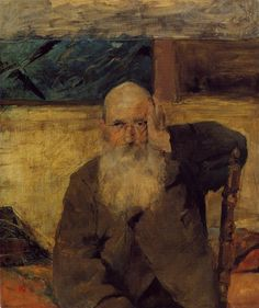 Old Man at Celeyran by Henri de Toulouse-Lautrec  Medium: oil on canvas