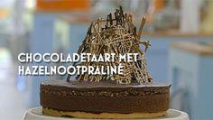 Chocoladetaart met hazelnoot praline