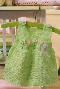 baby dress in crochet – Knitting and crocheting Baby Knitting Patterns, Knitting For Kids, Crochet For Kids, Baby Patterns, Baby Girl Crochet, Crochet Baby Clothes, Crochet Dresses, Crochet Crafts, Crochet Baby Dresses