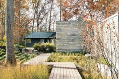 modern ipe wood deck landscaping