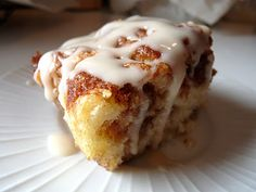 I made this without the icing...totally forgot! I also added a tablespoon of chia seeds....Yummy! From Candace Creations: Gluten Free Coffee Cake with Maple Icing