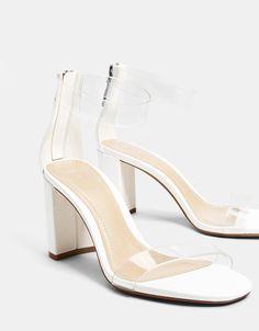 0b0d353fe464 Vinyl high-heel sandals - Bershka  fashion  product  shoes  zapatos  cool   trend  trendy  young  ss18  new  sandalias  tacon  vinilo