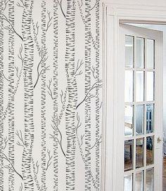 Tree STENCIL - Silver BIRCHES - Reusable Allover Forest Stencil - DIY Home Decor. $57.95, via Etsy.
