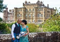 #scotland #scottish #asian #wedding @Premier Wedding Planners Scotland #bride #groom #dress #kilt #blue #kilt #flowers #castle