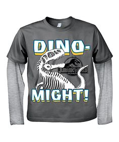 Look at this Charcoal Jurassic World 'Dino-Might!' Tee - Toddler on #zulily today!