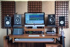 You are in the right place about Audio Room basements Here we offer you the most beautiful pictures about the Au Home Recording Studio Setup, Home Studio Setup, Music Studio Room, Studio Table, Music Rooms, Studio Ideas, Configuration Home Studio, Whole Home Audio, Home Music