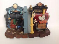 HARRY POTTER Bookends Hogwarts Express Train 9 3/4 Warner Bros. 2000 HTF! RARE!