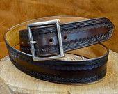 Leather Belt Custom Hand Tooled made in New York by mataradesign