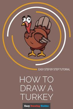 Learn to draw a cool cartoon turkey. This step-by-step tutorial makes it easy. Kids and beginners alike can now draw a great looking turkey. Art Lessons For Kids, Art Activities For Kids, Craft Projects For Kids, Arts And Crafts Projects, Art For Kids, Holiday Activities, Easy Cartoon Drawings, Cartoon Art, Animal Drawings