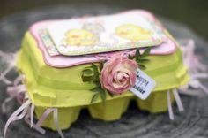 más y más manualidades: Convierte las cajas de huevo en hermosas cajas de obsequio