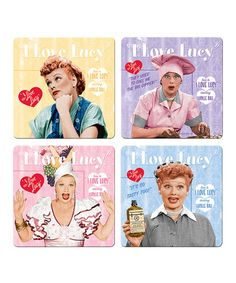 Take a look at this I Love Lucy Coaster Set by Vandor on #zulily today!