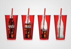coca cola in packaging creativo