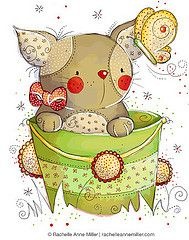 All Artwork Copyright Rachelle Anne Miller Creative Studios. Decoupage Vintage, Tatty Teddy, Cute Images, Cute Pictures, Kitten Drawing, Cute Clipart, Creative Pictures, Watercolor Animals, Watercolor Painting
