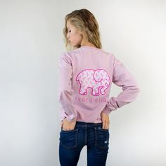 26d6e6394f6886 Support the search for a cure in our super soft Breast Cancer Awareness  long sleeve! - Screen-printed in America - Cotton - Lightweight - Hand-wash  before ...