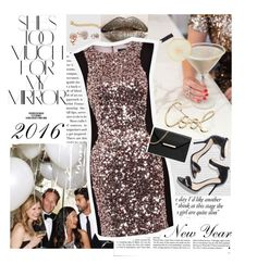 """""""New Years Eve"""" by sunkissedstylez ❤ liked on Polyvore featuring Victoria Beckham, Rika, French Connection, MICHAEL Michael Kors, Lanvin, GUESS, Cartier, women's clothing, women and female"""