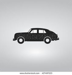 Classic Car Flat Icon - stock vector