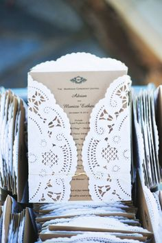 Special wedding invitations: http://www.stylemepretty.com/california-weddings/2014/11/21/family-infused-old-ranch-country-club-wedding-on-a-budget/ | Photography: Closer to Love - http://closertolovephotography.com/