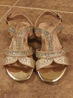 La Redoute Collections Big Girls Sparkly Sandals Yellow Size 37