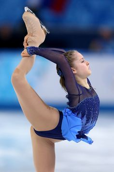Yulia Lipnitskaya of Russia competes in the Figure Skating Ladies' Short Program on day 12 of the Sochi 2014 Winter Olympics at Iceberg Skating Palace