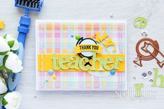 It is already back to school time, what better way to prepare than a Teacher Appreciation Card? Check out this video tutorial for a simple way to make dimensional embellishments.