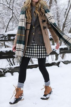 WOODSTOCK, VERMONT // BARBOUR PLAID & DUCK BOOTS | Atlantic-Pacific | Bloglovin'