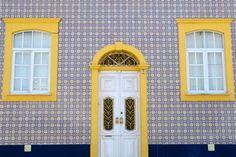 Portuguese home with tile facade.