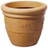 Grapes Pot - Terracotta/Sandstone - 47cm