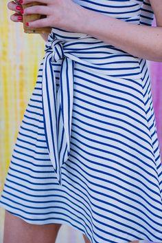 this cutie tie-front dress is under $100!