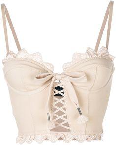Fenty X Puma scalloped hem corset top – Women Fashion Lingerie Design, Lingerie Look, Jolie Lingerie, Luxury Lingerie, Fashion Design Inspiration, Mode Inspiration, Pink Crop Top, Pink Tops, Bow Crop Tops