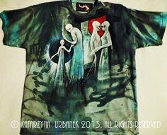"T-shirt "" in my eyes..."" malowany ręcznie © Katarzyna Urbanek , All rights reserved https://www.facebook.com/lunarisart"