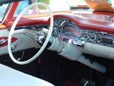 "What a beautiful dash layout for this 1958 Oldsmobile ""98"" sedan"