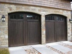 Our French Inspired Home: European Style Garages and Garage Doors