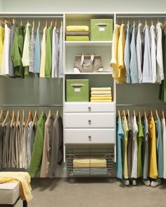 Organize by activity; work clothes should be together so that you need only sort through a portion of your closet before going to work.