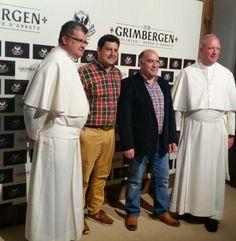 Con los monjes de la abadía de Grimbergen en Madrid