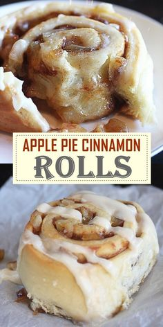 APPLE PIE CINNAMON ROLLS #dessertrecipes