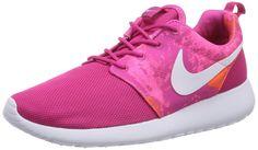 Nike Roshe Run 599432-613, Damen Low-Top Sneaker, Pink (Fireberry/Weiß-Pink Powder-Total Orange 613), EU 36