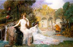 artbeautypaintings:  Fountain of youth - Eduard Veith