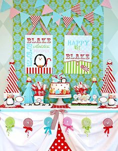 Winter Candyland First Birthday Party