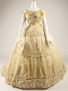 1866 French Wedding Dress