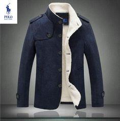 Trench Veste Ralph Lauren Caban Warm Homme Chic Classique Elegance Bleu Marine.jpg (738×745)