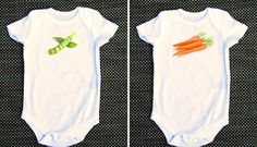 Like peas and carrots funny baby onesie twins by WhimsyOnesie, $28.00