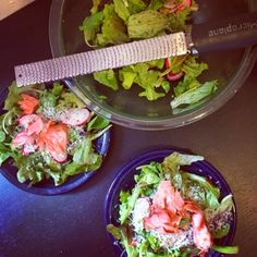 Farmer's Market Salad with smoked salmon, fresh peas, and radishes | Freshly Grated Ginger