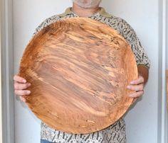"XXLarge 19"" Red Elm wood Bowl  centerpiece, fruit bowl, salad bowl,  salad bowl, bread bowl,  hand turned"