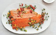 Slow-Roasted Salmon with Cherry Tomatoes and Couscous Recipe - Bon Appétit