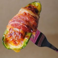 Goat Cheese Stuffed Jalapenos Wrapped in Bacon @keyingredient #quick #cheese #bacon